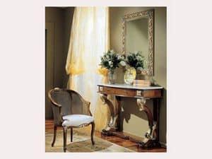 3270 SPECCHIO, Specchio rettangolare con decoro dorato, per hotel classici