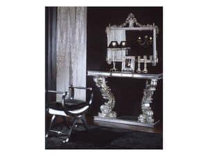 703 SPECCHIERA, Specchiera con finitura argento, per uso residenziale e hotel