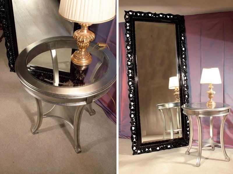 Art. 1788 Audrey, Specchio rettangolare, cornice rifinita in stile classico