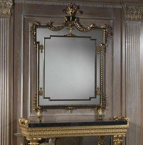 Art. 2095 specchiera, Specchiera rettangolare con cornice intagliata