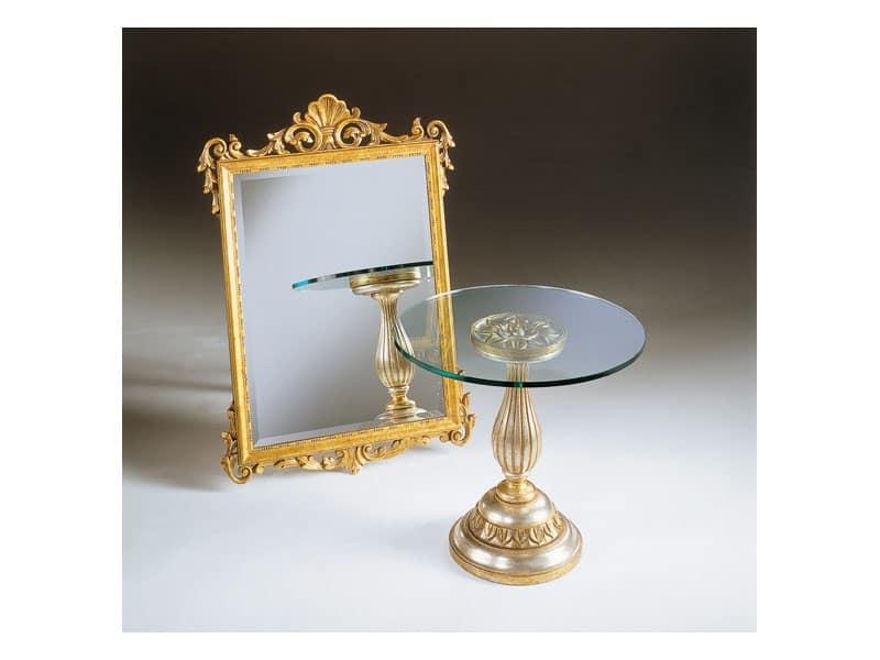 Art. 401, Specchio con finitura foglia oro, anticato, per albergo