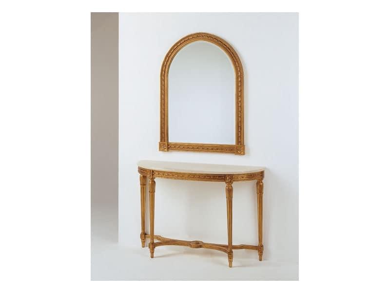 Art. 700/S, Specchio in legno intagliato, per salotto classico