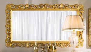 Chippendale specchiera rettangolare oro, Specchiera classica dorata