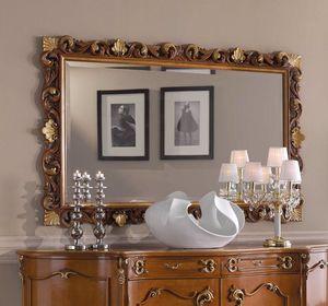 Chippendale specchiera rettangolare, Specchiera classica, cornice intagliata