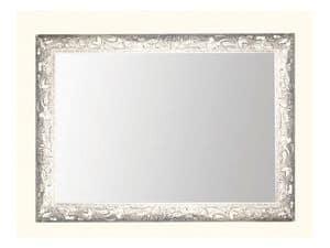 Cornice art. 104, Specchio con cornice in legno decorata con foglie d'uva