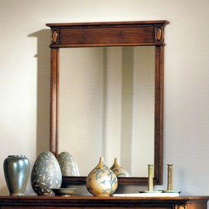Etretat VS.0239, Specchiera da parete in noce con fascia a costine