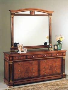 IMPERO / Specchiera mis. grande, Specchiera per camera da letto, con cornice in legno