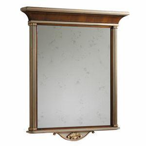 Koh-I-Noor LU.0404, Specchiera da parete in noce