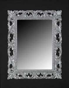 Memo, Specchiera in stile classico con cornice in legno laccato
