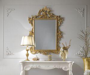 Puccini Art. 110, Specchiera classica, finitura foglia oro