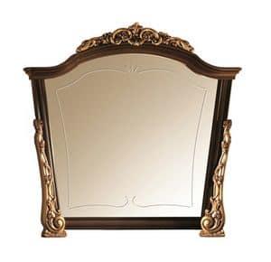 Sinfonia specchiera, Specchiera in legno con abbellimenti in oro, fatta a mano