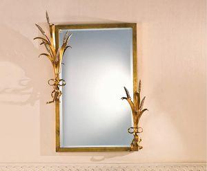 SP.7265, Specchiera rettangolare con cornice in foglia oro