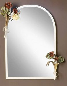 SP.8055, Specchiera con cornice con decorazioni floreali