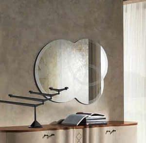 SP19 Iride specchiera, Specchio serigrafato formato da 3 cerchi sovrapposti