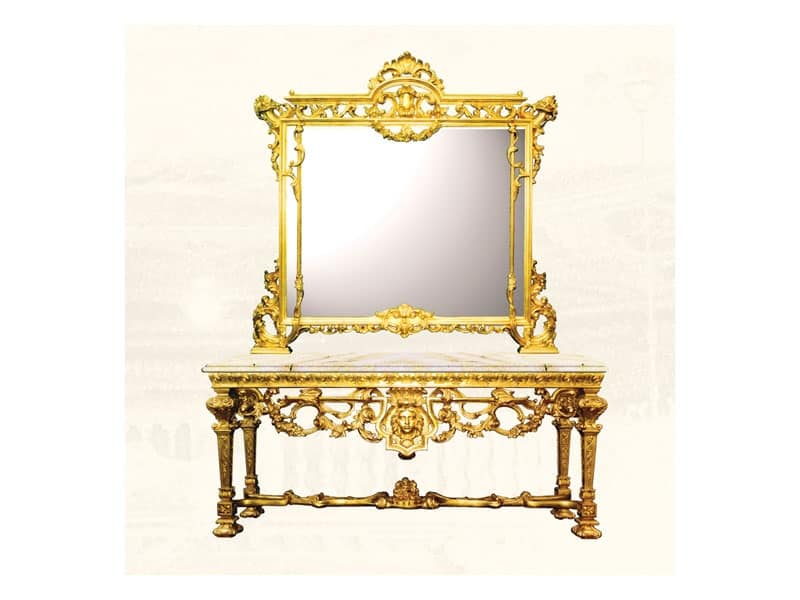 Specchiera art. 126/b, Grande specchiera quadrata in stile Luigi XIV