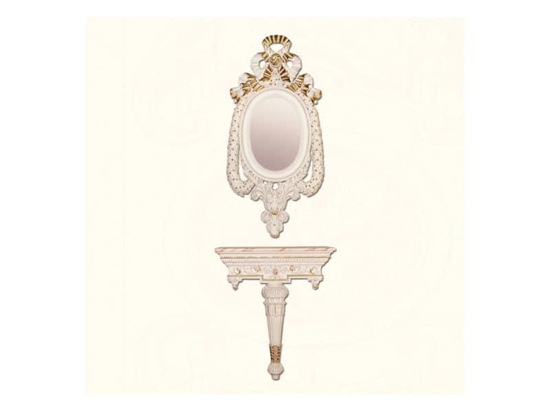 Specchiera art. 152, Specchiera in stile classico, con cornice decorata