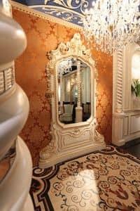 Specchiera Art of Decor, Specchiera classica con intagli fatti a mano, finiture in oro