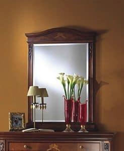 Voltaire specchiera, Specchio classico in legno con vetro molato