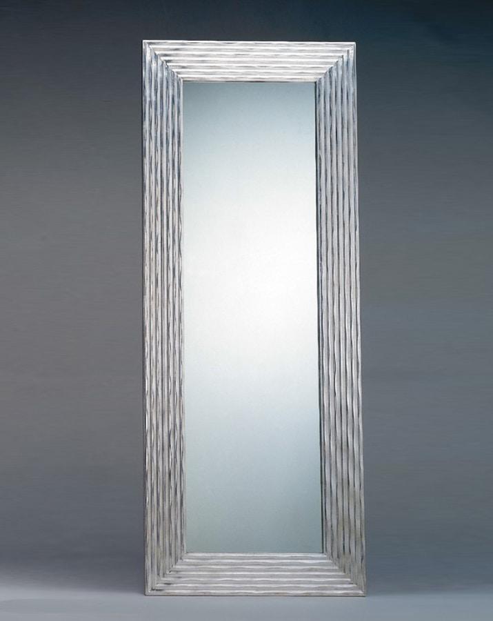 Specchio Rettangolare Con Cornice Argento Idfdesign