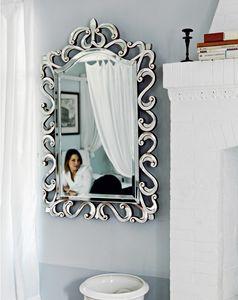 Asah 205, Specchio con cornice intagliata