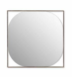 Circe specchio, Specchiera con cornice acciaio