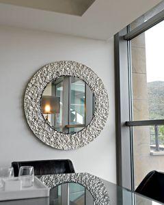 Cliff 329, Specchio tondo, con cornice in cristallo