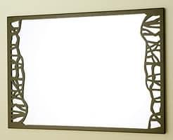 Green Specchio, Specchio decorativo con sottile cornice in metallo