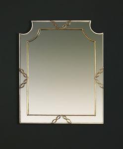 HF2006MI, Specchiera con finitura oro