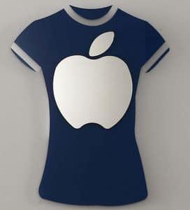 k 194 t-shirt, Specchio moderno con cornice a forma di t-shirt