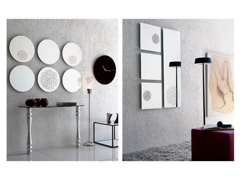 k201 frill, Specchio da parete senza cornice
