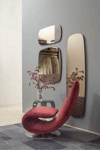 MARGUERITE, Specchio argentato o bronzato, varie dimensioni