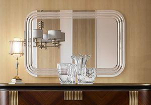 Oliver Art. OL03/S, Specchio naturale con incisioni raggiate