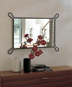Pass, Specchio con cornice in ferro