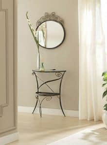 Specchio Klimt, Specchio con cornice decorata, in ferro