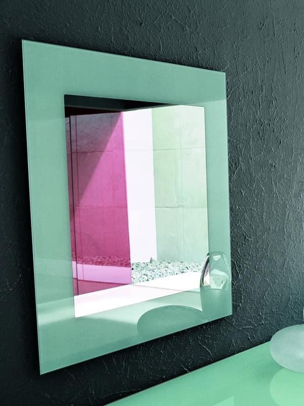 TOSHIMA, Specchio da parete, varie finiture per la serigrafia