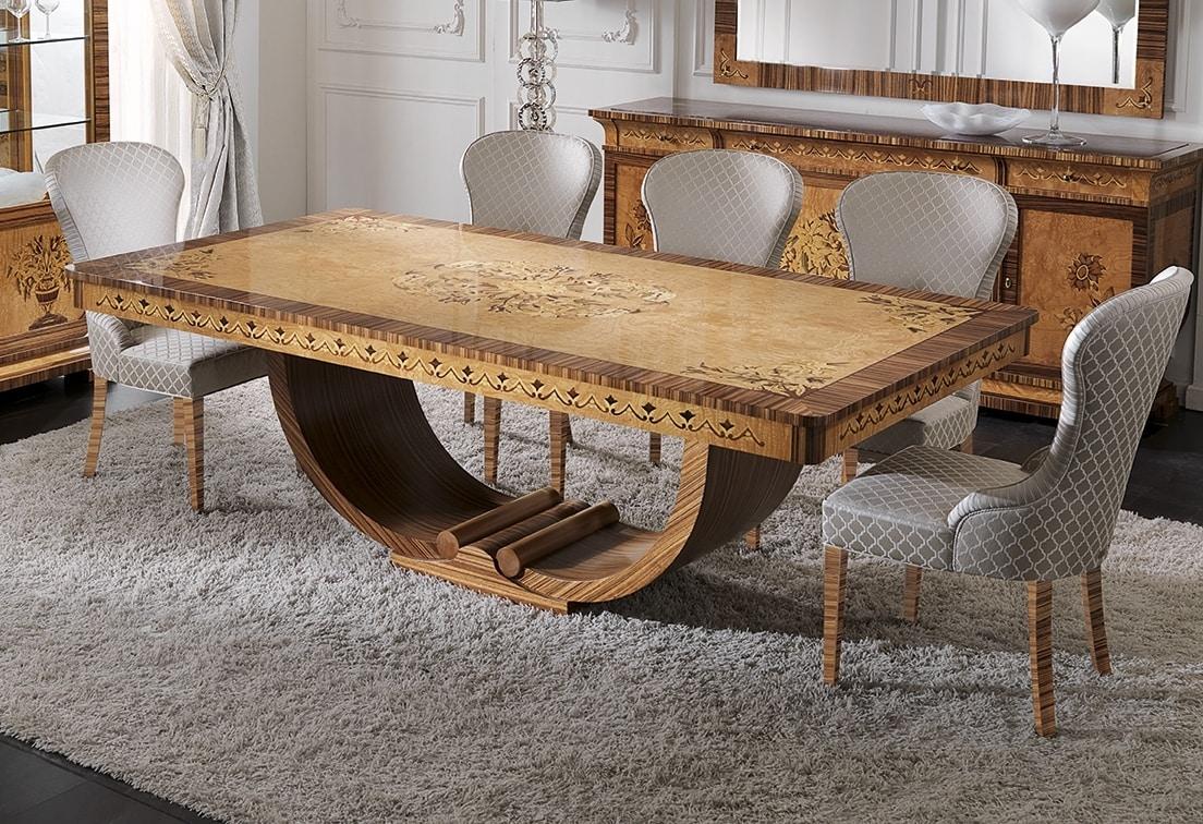 Ceppo Di Legno Tavolino tavolo allungabile in stile déco | idfdesign