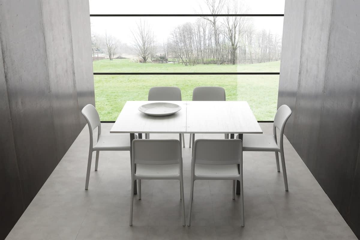 Tavolo da pranzo allungabile di piccole dimensioni | IDFdesign