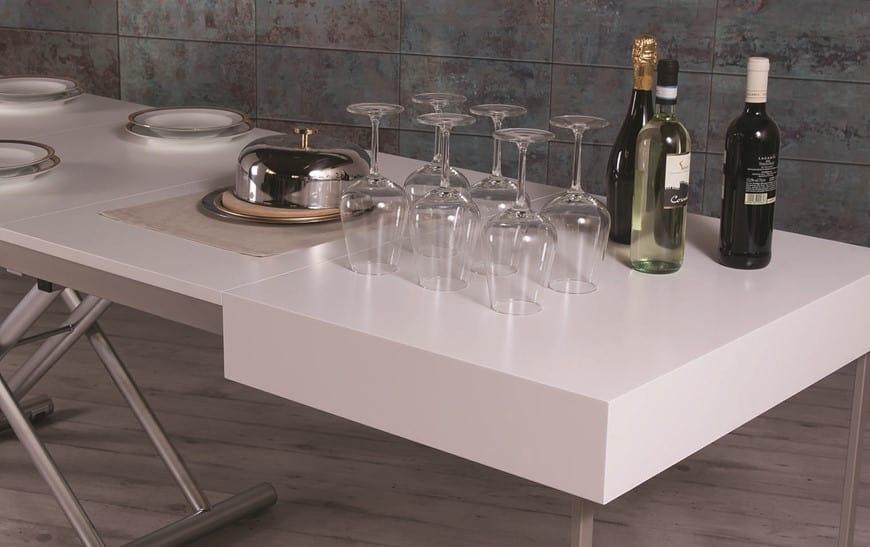 Tavolo trasformabile in altezza e lunghezza   IDFdesign