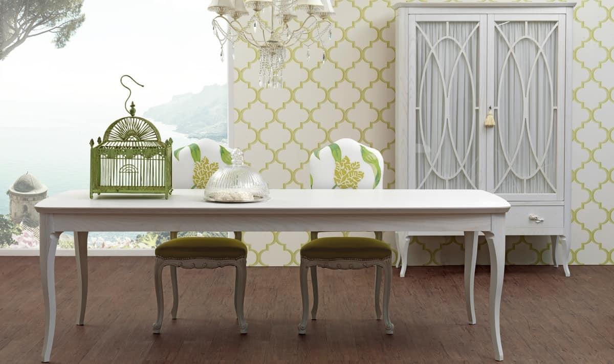 Tavolo allungabile, in legno, in stile contemporaneo ...