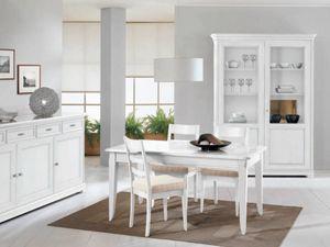 Capri tavolo, Tavolo laccato bianco, dal design tradizionale