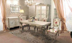 Delizia tavolo rettangolare, Tavolo allungabile in legno