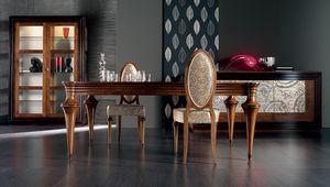 Etoile Art. ET008/A/NO, Tavolo allungabile in legno