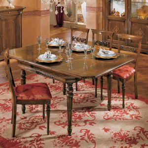 I Dogi di Venezia DOGI-E608, Tavolo quadrato allungabile, in stile classico