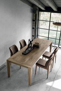 LEVANTE TA512, Tavolo allungabile in legno