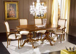 Regency tavolo ovale allungabile, Tavolo da pranzo stile classico