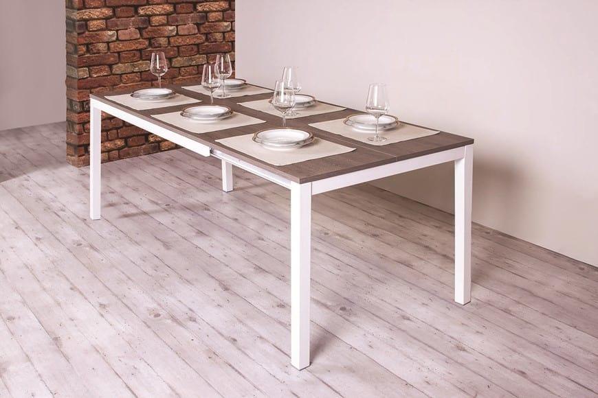 Tavolo da pranzo allungabile con piano in legno   IDFdesign