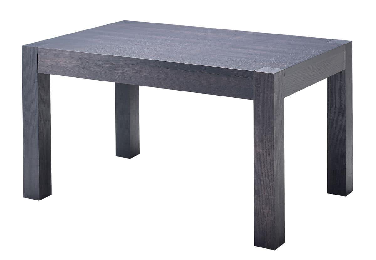TA20, Tavolo moderno allungabile, piano impiallacciato rovere