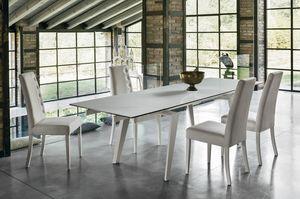LIBECCIO 180 TA1A5, Elegante tavolo allungabile per soggiorno