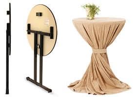Ctl, Tavolo pieghevole con piano in legno per catering