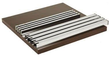FT 040, Tavolo smontabile, in metallo e legno, per rinfreschi